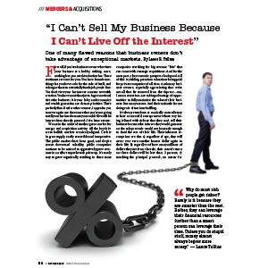 Article Cover man chained to percentage sign